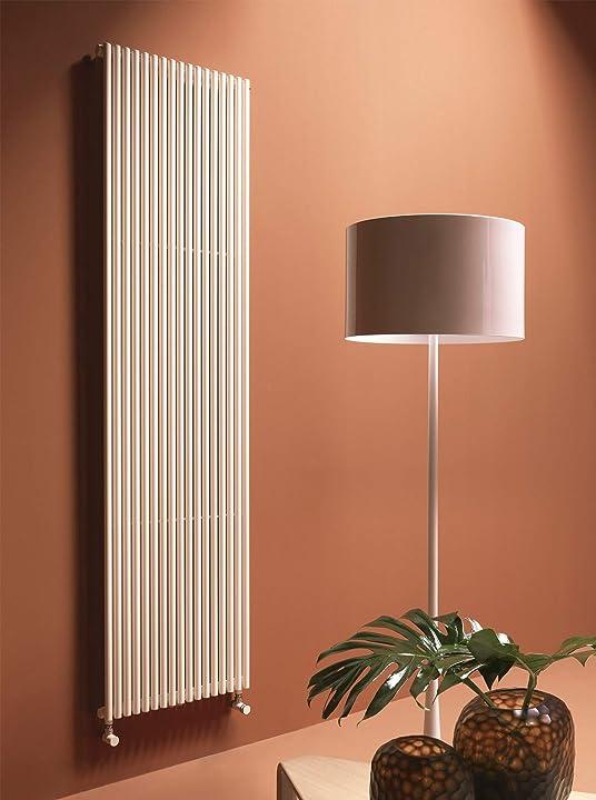 Termoarredo verticale a colonna design bianco h 200 acciaio ercos