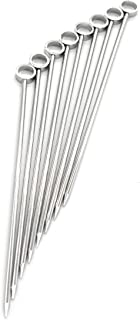 PuTwo Cocktail Picks Stainless Steel Martini Glass Picks 4 Inch Long - Pack of 8