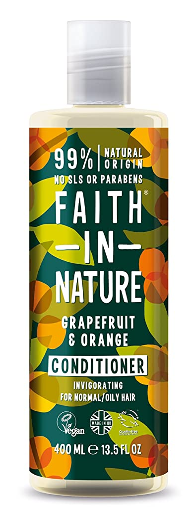 支配的差し引くどちらかFaith In Nature Grapefruit & Orange Conditioner For Normal To Oily Hair 400ml