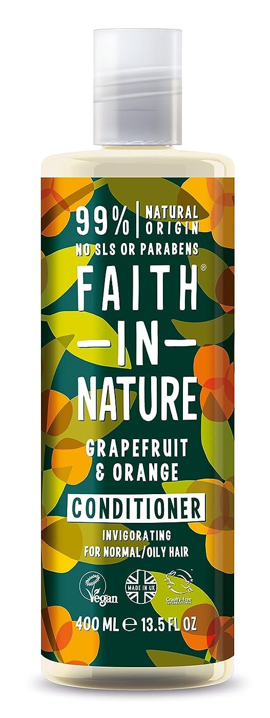ラウンジ安心思春期のFaith In Nature Grapefruit & Orange Conditioner For Normal To Oily Hair 400ml