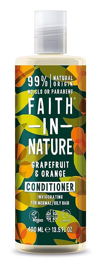 ノートバレーボールオークションFaith In Nature Grapefruit & Orange Conditioner For Normal To Oily Hair 400ml