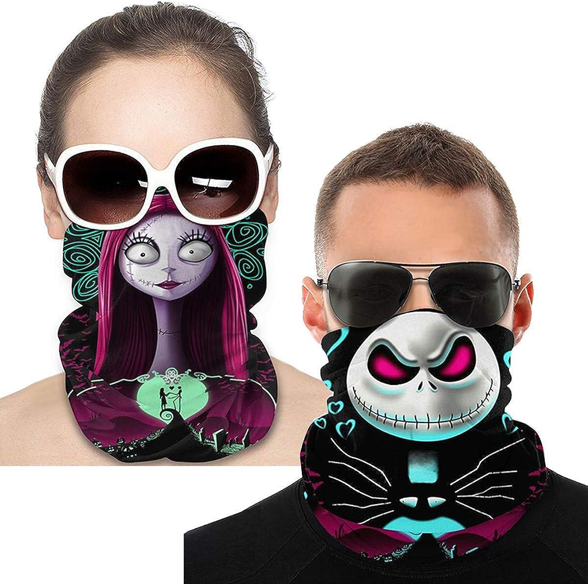 2PCS Halloween Face Neck Tube Mask Xmas Head Scarf Headband Guard Motorcycle NEW