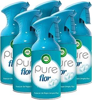 Air Wick - Ambientador aerosol, esencia para casa con aroma a Flor - pack de 6