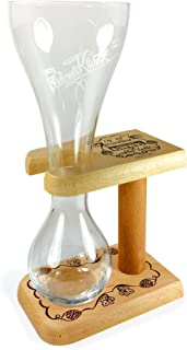TUFF LUV Personalised/Engraved Glass+Wooden Stand/Barware CE 330ml - for Kwak
