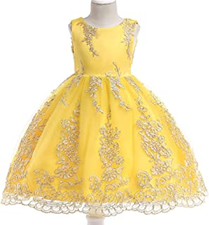 Summer Girl Dress Princess Wedding Dress Girl Embroidered Applique Birthday Dresses Kids Christmas Party Dresses,As Picture2,5