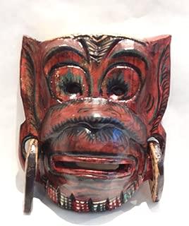Wooden Hanoman Monkey Mask Hand Carved Wood Bali Wall Decor Art #N3403