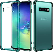 "MoKo Compatible with Samsung Galaxy S10 Case, Crystal Clear Case Reinforced Corners TPU Bumper and Anti-scratch Transparent Hard Panel Cover Fit with Samsung Galaxy S10 6.1"" 2019 - Prism Green"