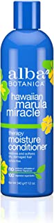 Alba Botanica Hawaiian Marula Miracle Therapy Moisture Cleansing Conditioner, 12 oz. (Pack of 6)