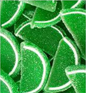 FirstChoiceCandy Green Lime Fruit Jell Slices Gummy 1 LB - 16 oz In a Resealable Gift Bag