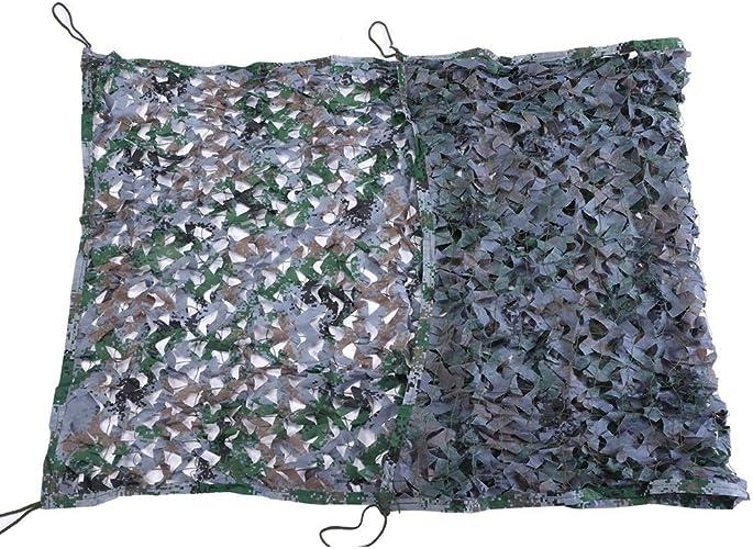 QIANGDA Filet pour Parasol Camouflage Ombre Filet Solaire Auvent De Jardin Bache pour Décoration Murale Couverture D'usine De Voiture, Plusieurs Tailles (Taille   3x5m)