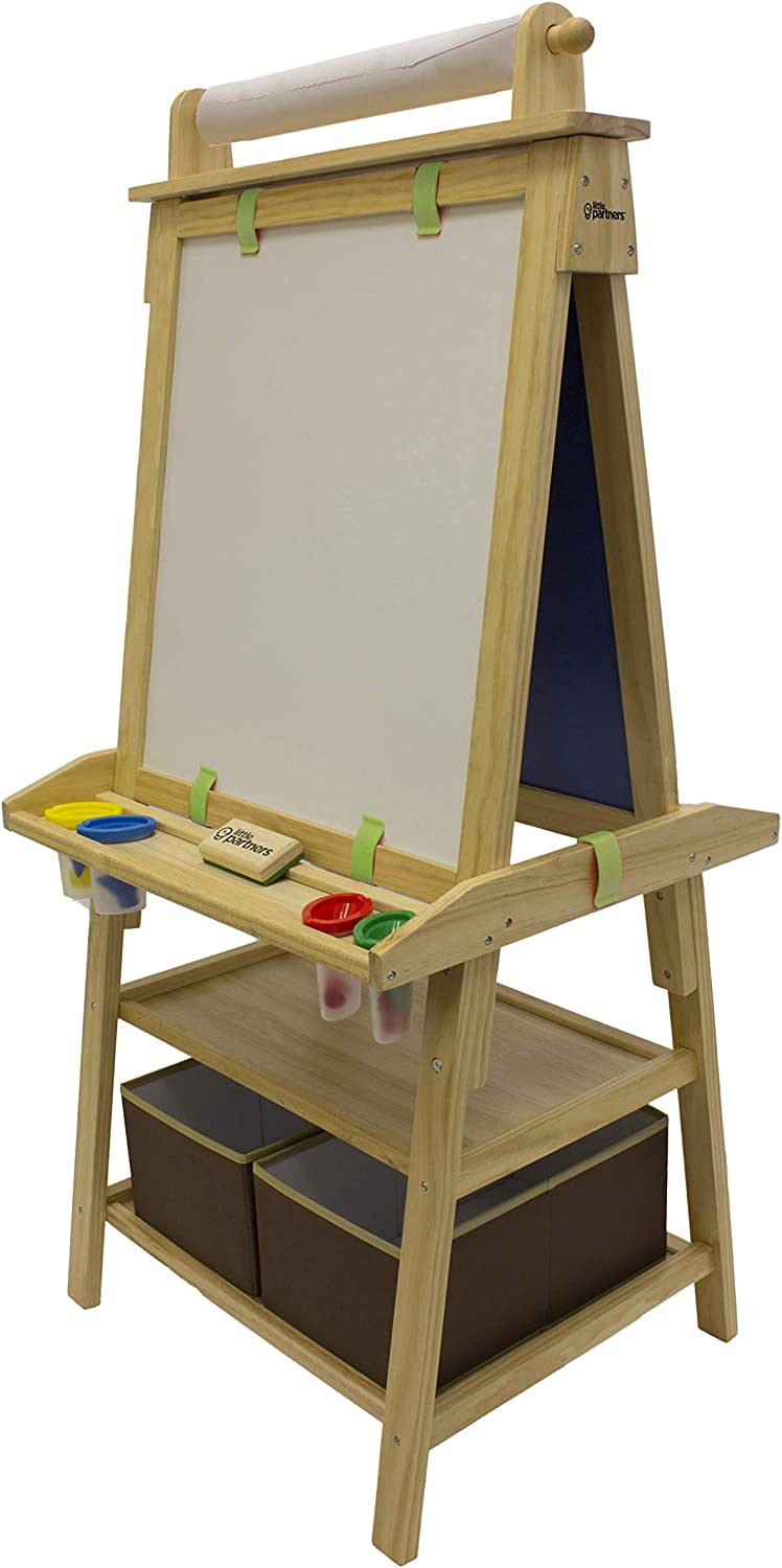 Little Partners 2-Sided A-Frame Art Dry Easel Miami Mall Manufacturer direct delivery Board with Chalk
