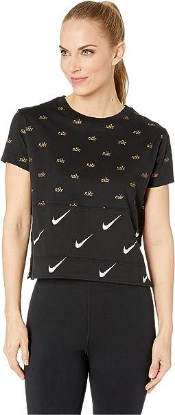 Nike Sportswear Top Short Sleeve Metallic