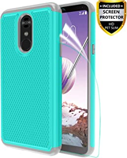 LG Stylo 4 Phone Case,LG Stylo 4 Plus Case with Screen Protector,LG Q Stylus 4 Case,[Shockproof][Non-Slip] Dual Layer Heavy Duty Hybrid Armor Defender Protective Phone Case Cover LG Stylo 4,Teal