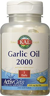 KAL Garlic Oil 2000 Softgels, 250 Count