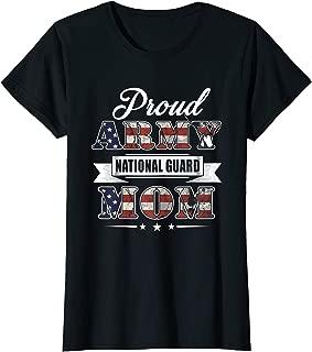 Womens Proud Army National Guard Mom T-Shirt U.S. Military Gift Tee
