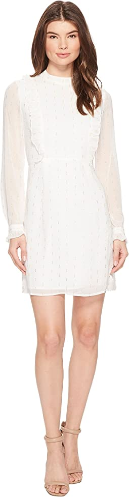 CATHERINE Catherine Malandrino - Long Sleeve Ruffle Front Dress