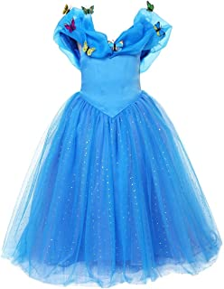 ELSA & ANNA® Princesa Disfraz Traje Parte Las Niñas Vestido (Girls Princess Fancy Dress) ES-FBA-CNDR4 (7-8 Años, ES-CNDR4)