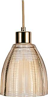 Pauleen 48124 luminaria Gleaming Gold máx. 25W E27, lámpara Colgante Efecto, Vidrio/Oro/latón 230V Cristal