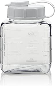 Arrow Home Products 15501 Clear 1 Pint View Refrigerator Bottle