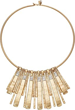 Robert Lee Morris - Two-Tone Statement Round Wire Necklace