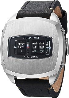FUTURE FUNK 腕時計 メンズ 【 アナログデジタルウォッチ × ローラー式 】防水 メーカー保証書付属 FF101-SV-LBK
