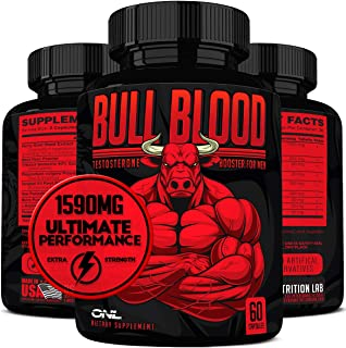 Bull Blood Ultimate Testosterone Booster for Men – Male Enhancing Pills –..