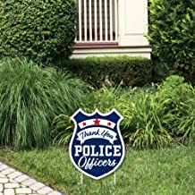 product image for Big Dot of Happiness Thank YouPolice Officers - Outdoor Lawn Sign - First Responders Appreciation Yard Sign - 1 Piece