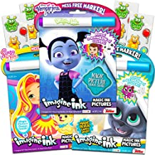 Disney Magic Ink Coloring Book Set for Girls Toddlers Kids -- 3 Imagine Ink Books Featuring Disney Junior Vampirina, Puppy Dog Pals, Sunny Day with Invisible Ink Pens and Owl Stickers