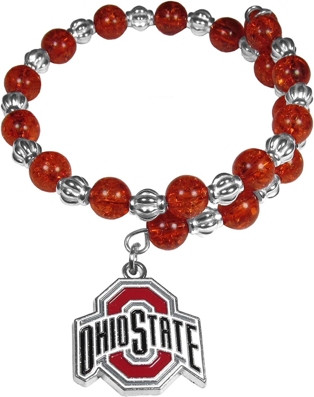 Siskiyou NCAA womens Bead Memory Wire Bracelet