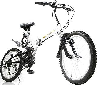 フルサスペンション マウンテンバイク 20インチ 折りたたみ自転車 AJ-01-T MTB シマノ6段外装ギア ダブルサス …