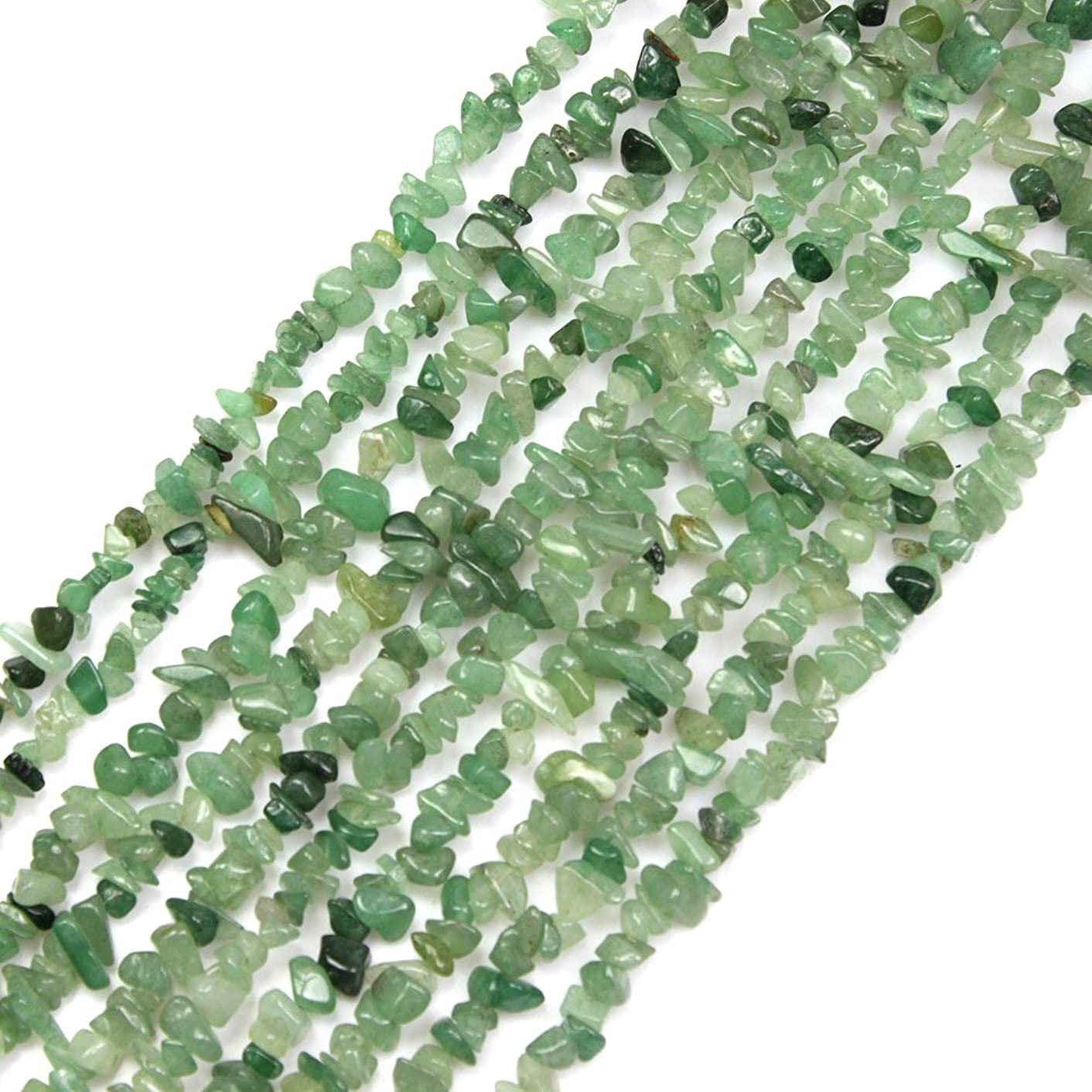 JARTC Natural Irregular Broken Green Aventurine Chip 6-8mm 15 Inch Agate Crystal Chip for Jewelry Making DIY Bracelet Necklace Accessory