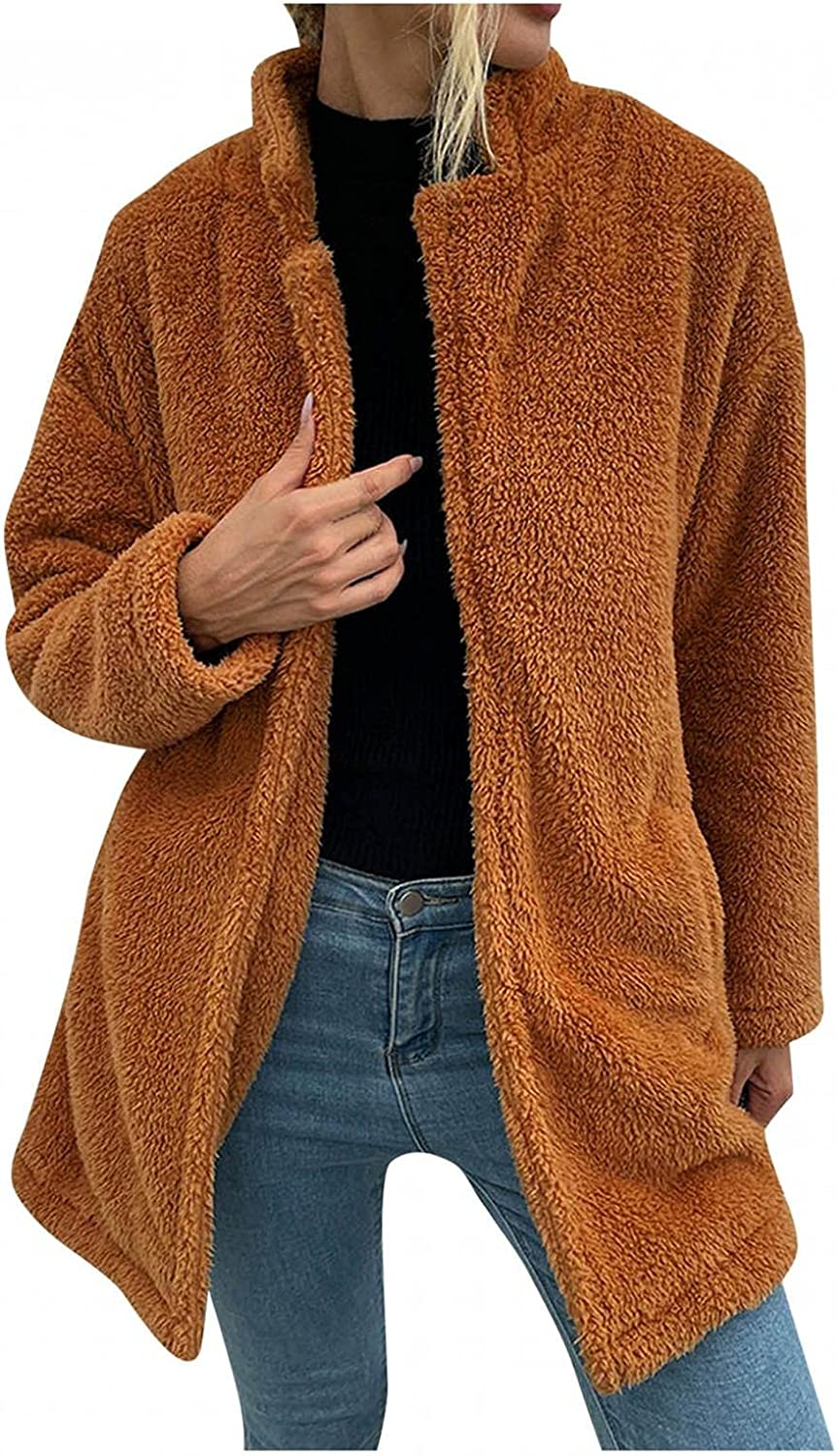 Special price for a limited time PHSHY Women's Faux Max 47% OFF Shearling Shaggy Oversized O Warm Winter Coat