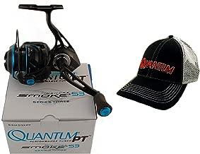 Quantum S3 Smoke SSM30XPT 6.0:1 Inshore Spinning Reel + Hat