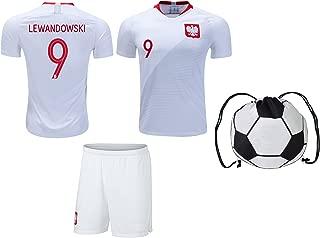 R.F.A Poland Lewandowski #9 Soccer Jersey Kids Youth Sizes Football World Cup Premium Gift Set