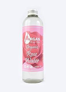 Tónico Facial de Agua de Rosa Pura, botella grande de 250 ml. Hecho a mano, triple filtrado y purificado, vegano, sin crueldad, de fuente responsable.