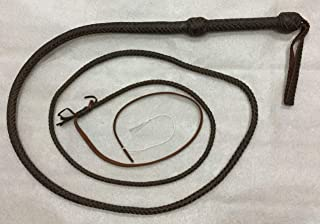 Bullwhip 10 ft 12 Plait Dark Brown Real Leather Well Weighted shotloaded Whip