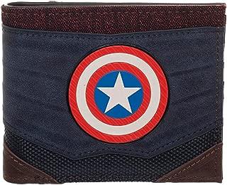 Captain America Chrome Weld Patch Bi-fold Wallet