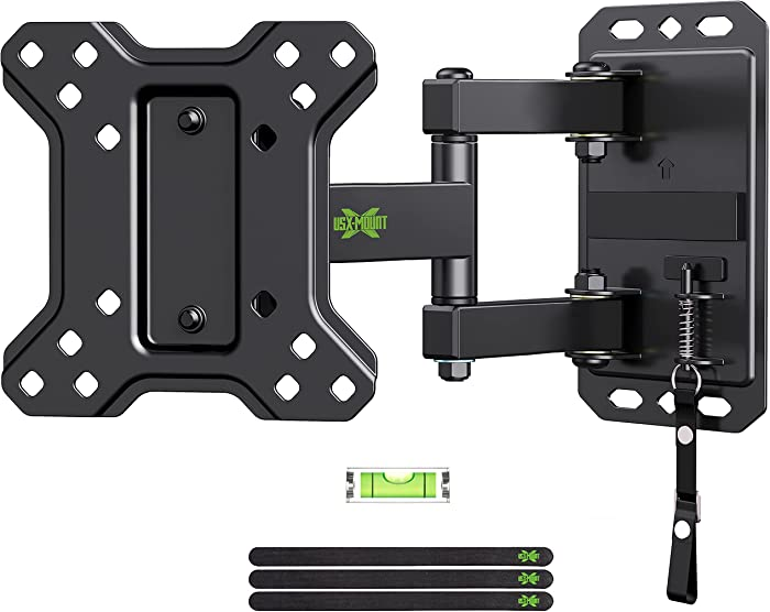 USX MOUNT Lockable RV TV Mount for Most 10-26 Inch LED, Flat Screen TVs RV Mount on Motor Home Camper Truck Marine Boat Trailer Full Motion TV Wall Mount up to 33 lbs VESA 100x100mm Easy One Step Lock