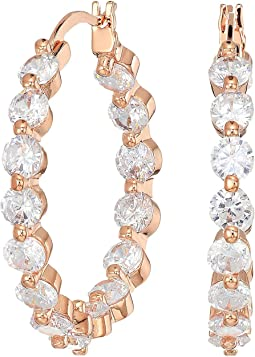 Medium CZ Hoop Earrings
