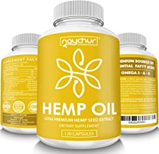Hemp Oil Capsules - Best Organic Natural Pure Hemp Seeds Extract for Pain Relief Anti Anxiety Anti Inflammatory Stress Sleep Support Raw Herbal Supplements Omega 3 6 9 - Non GMO 120 Capsules