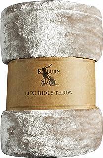 Frank Hudson Maximus Fleece Throw, Natural, 1500 x 2100mm