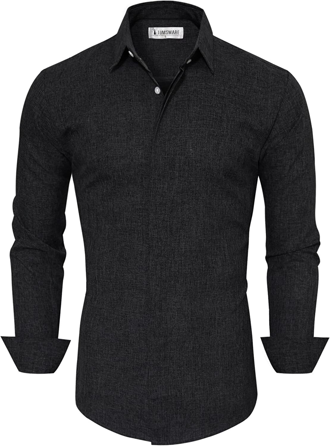 TAM WARE Mens Casual Slim Fit Long Sleeve Button Down Shirt
