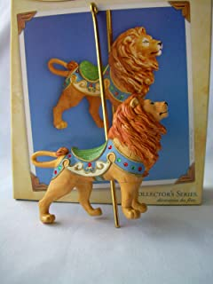 HALLMARK 2004 COLLECTORS SERIES MAJESTIC LION CAROUSEL RIDE CHRISTMAS ORNAMENT by Hallmark
