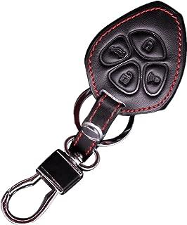 KAWIHEN Leather Smart Remote Key Fob Case Keyless Entry Case Holder Cover For Toyota Camry Corolla Avalon RAV4 Yaris Matrix 4Runner Subaru BRZ HYQ12BBY 89070-06232