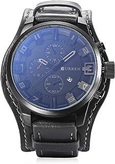 Curren 8225 Casual Decorative Sub-dial Male Quartz Watch Black watch for Men - Casual Watch Black