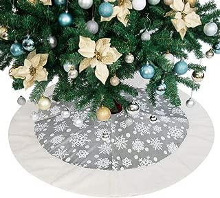 white fleece tree skirt