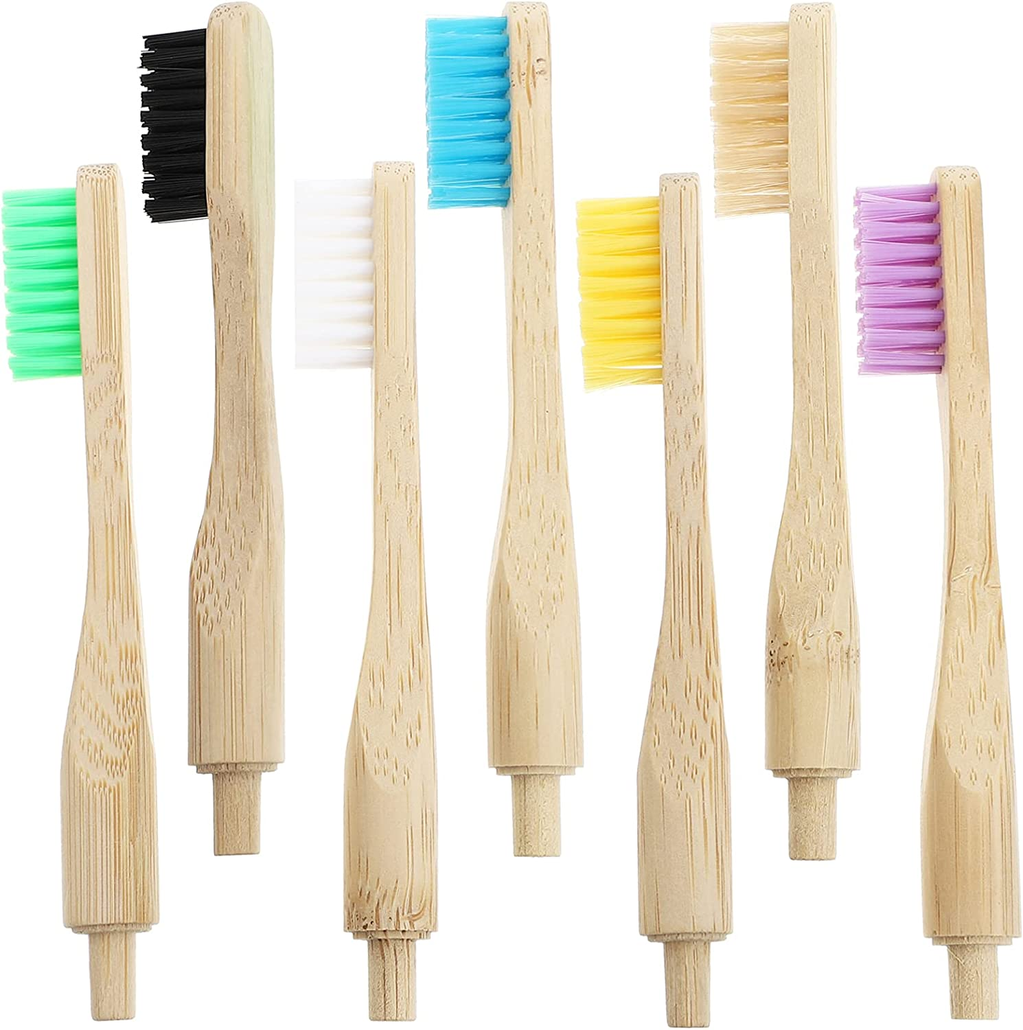 Healifty 7pcs Bamboo Toothbrushes Natural Organic Biodegradable Sales of SALE Miami Mall items from new works