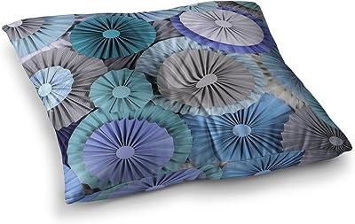 Kess InHouse Famenxt Boho Tribe Mandala Beige Black 26 x 26 Square Floor Pillow