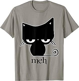 Cat funny T-shirt Meh Black Cat