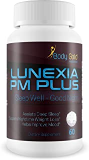 Lunexia Pm Plus - Sleep Aid - Sleep Well - Good Night - Valerian Root & a Blend of Powerful Proprietary Sleep Supporting Ingredients to Help You get The Good Nights Rest You Need - Assist Deep Sleep